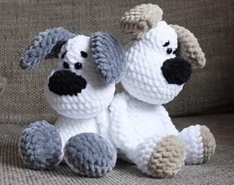 Cuddly animal dog Elvis Amigurumi Haekelnundkuscheln