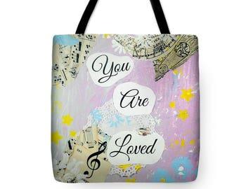 Music tote bag | Etsy