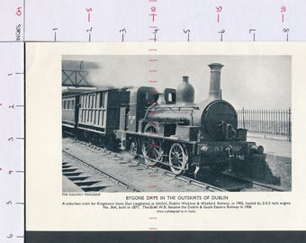 IRELAND Bygone days in the outskirts of Dublin  Printed photograph ZAS149