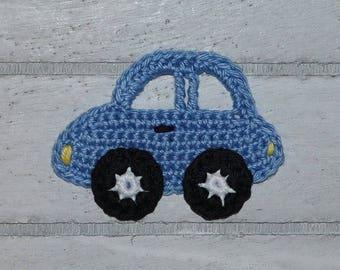1 auto - car - patches - crochet - application