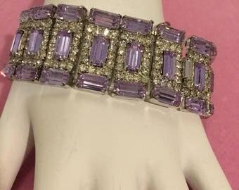 WEISS LAVENDER BAGUETTES Bracelet