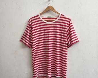 90s HANG TEN Vintage 80s Hang Ten Stripe Surf Blend T-Shirt Size L #374