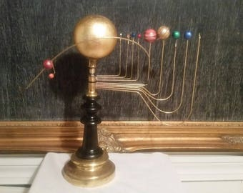 Antiqued Orrery , solar system model w/ Planet X- Nibiru by SC artist Will S. Anderson