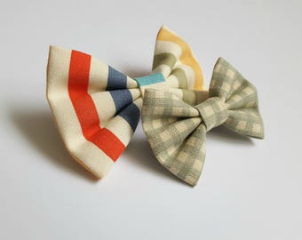 2 hairclips | bow, vintage look, strik