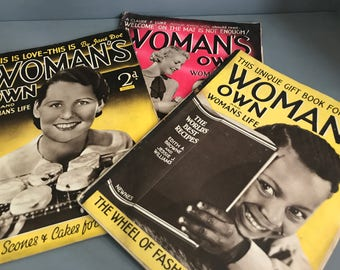 Vintage Woman's Own Four Copies from 1934