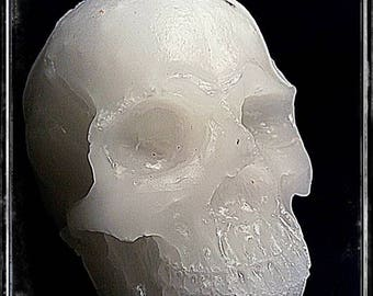 White skull candle wicca
