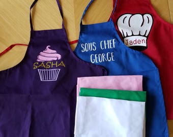 Personalized kids apron, Custom Kids Apron, Custom apron, personalized apron, personalized kids gift