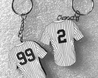 Aaron Judge, Derek Jeter, Gary Sanchez or ANY New York Yankee Jersey Keychain