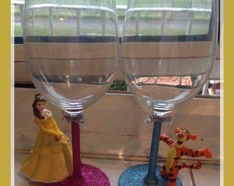 Disney glitter glasses