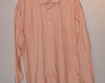 Vintage VTG Pronto Uomo Long Sleeve Dress Shirt