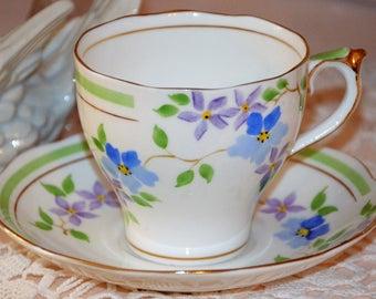 English Bone China Floral Tea Cup