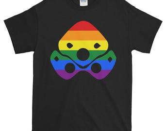 Widowmaker Rainbow Pride Unisex Short-Sleeve T-Shirt, Overwatch, lgbt, lgbtq, lgbtqipa, queer, queer pride, transgender, asexual