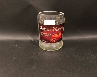 Fulton's Harvest Pumpkin Pie Cream Liqueur BOTTLE Soy Candle. 750ML. Made To Order !!!!!
