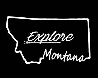 Montana Explore Vinyl Decal