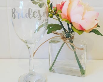Bridesmaid 2018 wine glass