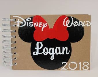 Custom Disney Autograph Book Personalized Minnie Mouse