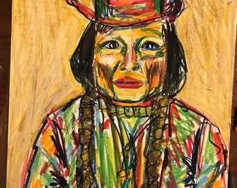Sitting Bull Abstract Portrait