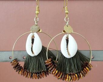 Creole earrings Salins Golden