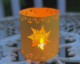 Tangled Lantern | Rapunzel Lantern | Small Tangled Paper Lantern