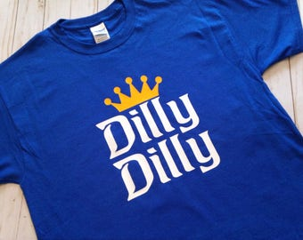 Dilly Dilly Shirt. Dilly Dilly T shirt,  Blue, Beer, Dilly Dilly, Crown, Beer Shirt, True Friend of the Crown, shirt, Tee shirt, 2X 3X 4X
