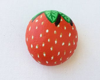 Strawberrie painted Stone