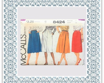 McCall's 8424 (1983) Misses' skirts - Vintage Uncut Sewing Pattern