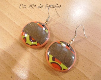 "Earrings ""Army"", polymer clay."
