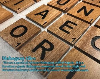 SHIPS FAST - Large scrabble tiles - large scrabble letters -scrabble wood letters - wood wall tiles - scrabble wall art - scrabble tile art