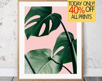 Monstera Print, Monstera Plant, Monstera Leaf Print, Monstera Wall Art, Digital Monstera, Monstera Leaf Art, Monstera Wall Print, Wall Plant