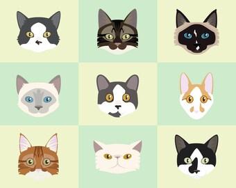 Cat Pet Portrait - Custom Commission