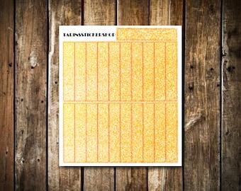 21 Gold Glitter Headers - Fits Erin Condren Vertical & Happy Planner