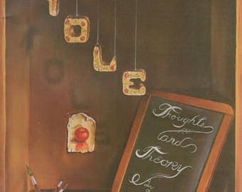 Summer Sale TOLE Thoughts and Theory by Ann Kingslar 1978 Painting Book