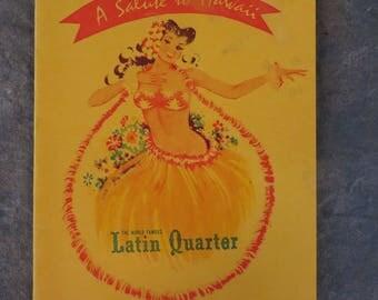 A Salute to Hawaii The World Famous Latin Quarter Rum Menu J. Wray & Nephew, Don Q,Applke Estate , Dagger Punch