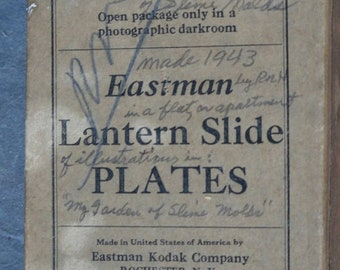Eastman Lantern Slide Plates Box Only  3 1/2 x 5 inches.