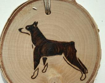 Dog ornament Min Pin