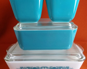 Pyrex Horizon Blue Refrigerator Set