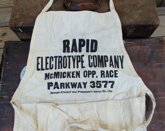 vintage nail apron Rapid Electrotype Company Cincinnati Ohio