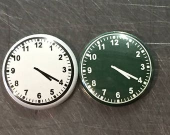 "4:20 clock face 1"" pin/magnet"