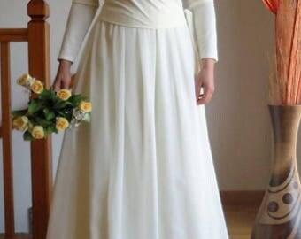 Long chiffon skirt, bride, bride length skirt, elastic waist