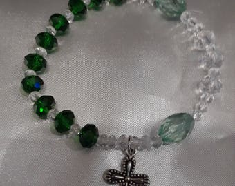 Emerald & Crystal Rosary Bracelet -RB 110