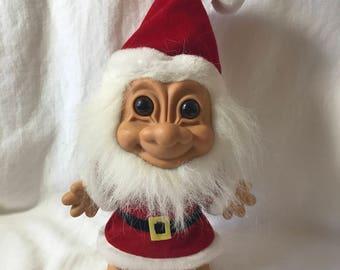 "1990's 8"" Russ Troll Santa Doll"