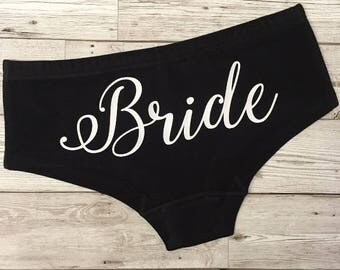 Personalised Bride Knickers, Hen party, bridesmaids