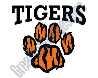 Tigers SVG - HTV - Vinyl Cutting Graphic Art