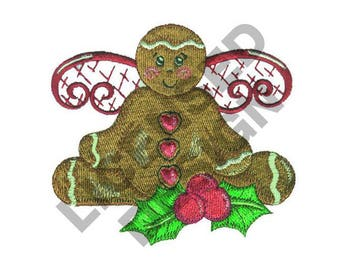 Gingerbread Angel - Machine Embroidery Design