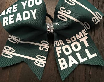 Are you ready for some football cheer bow