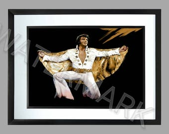 Elvis Presley A3 , Graphic .. Art . Poster . the king