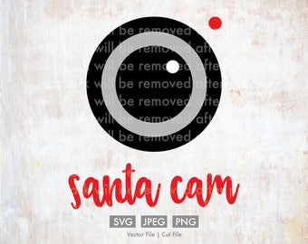 Santa Cam svg - Vector / Cut File - Silhouette, Cricut, SVG, PNG, JPEG, Clip Art, Stock Photo, Download, Christmas svg, Funny, Camera