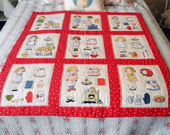 Bakery Paper Doll Kids Vintage-Inspired Small Quilt