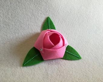 Set of 20 colored felt roses