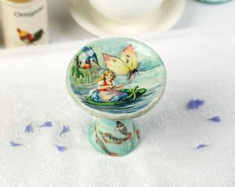 Art Collectible Acrylic Painting Figurine Illustration Papier mache Gift ideas Art Decor Home decor Handmade Gift